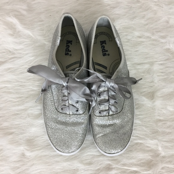 COPY - Keds Silver Glitter Sneakers